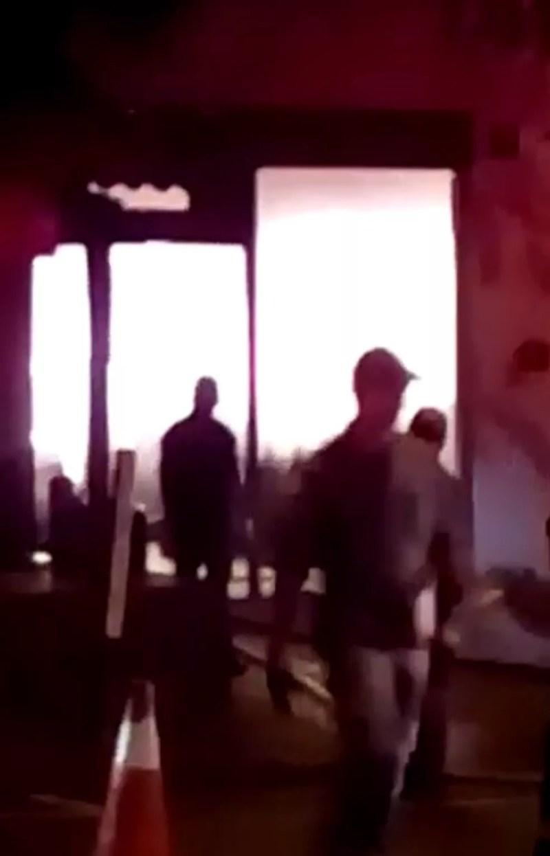 Incêndio em oficina mecânica em Rio Preto  — Foto: Arquivo Pessoal