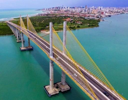 Ponte Newton Navarro, em Natal (Foto: Ney Douglas)