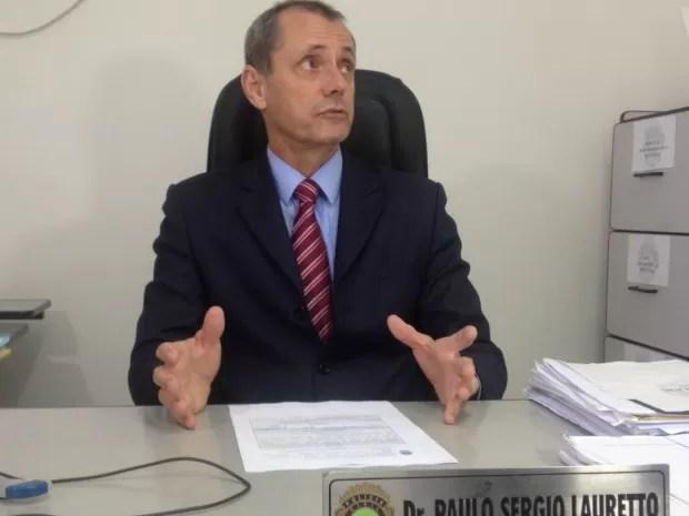 Delegado diz que suspeito foi preso em flagrante (Foto: Graziela Rezende/G1 MS)