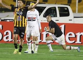 Maicon Strongest x São Paulo (Foto: Rubens Chiri / saopaulofc.net)