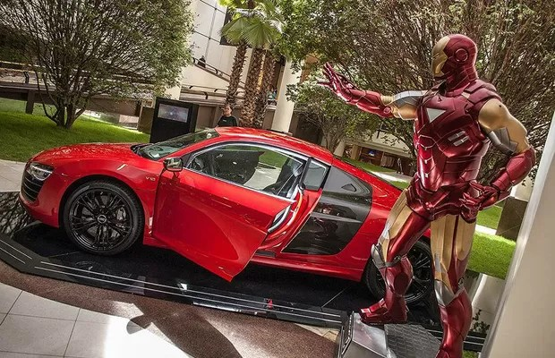 Audi aproveita pré-estreia de Homem de Ferro 3 para mostrar R8 V10 Plus, que chega no segundo semestre (Foto: Audi)