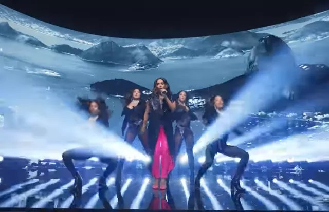 Anitta performed during the VMA 2021 break (Photo: Reproduction/Twitter)
