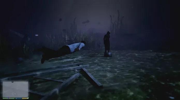 GTA 5 tem fase macabra com pessoas mortas no oceano  (Foto: (Reprodução/YouTube))