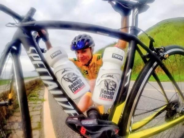 Flávia e a sua nova bike
