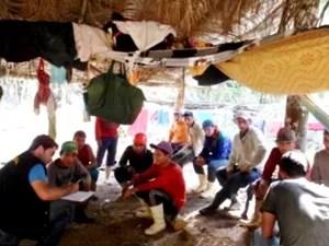 Trabalhadores foram resgatados (Foto: Divulgação MTE)