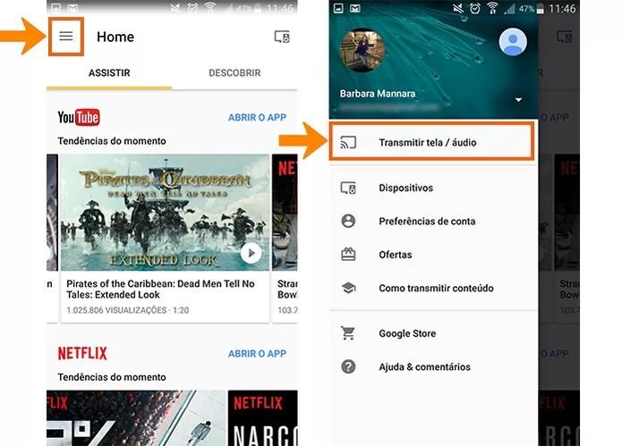 Abra o aplicativo do Home no celular para conectar com o Chromecast (Foto: Reprodução/Barbara Mannara)