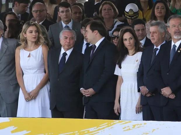 O presidente Michel Temer participa do desfile de 7 de Setembro (Foto: Wilson Dias/Agência Brasil)