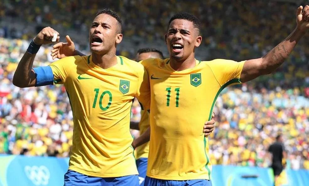 Neymar e Gabriel Jesus (Foto: Reprodução / Instagram)