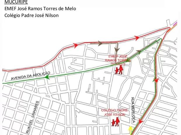 Modificações de trânsito no Bairro Mucuripe (Foto: Prefeitura de Fortaleza/Divulgação)