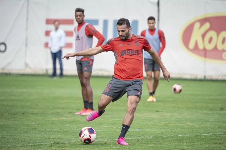 Thiago Maia está perto de retorno ao time do Flamengo — Foto: Alexandre Vidal / Flamengo