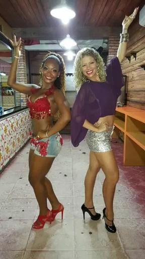 Ex-paquita Cátia Paganote e Luana Bandeira