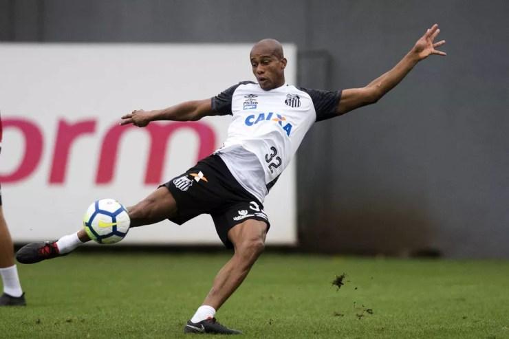 Copete em treino do Santos — Foto:   Foto: Ivan Storti/Santos FC