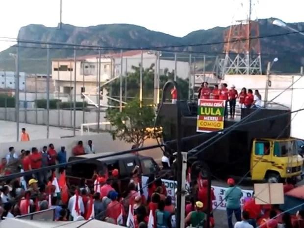 serra talhada, Ato público, Sertão, Governo, pernambuco, Lula, PT, Dilma, protesto