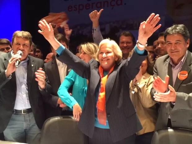 Ana Amelia Lemos governo (Foto: Dayanne Rodrigues/RBS TV)