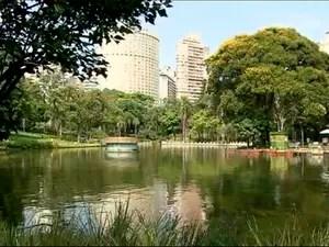 Parque Municipal de Belo Horizonte passa por reformas (Foto: Reprodução/TV Globo)