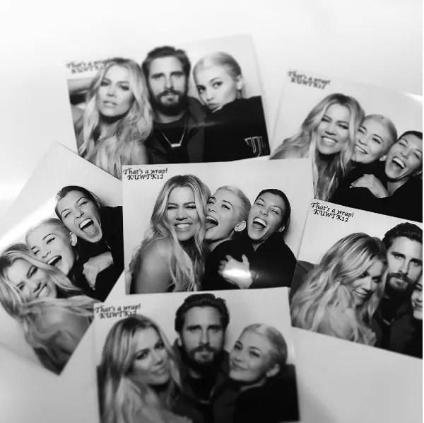 Kim Kardashian não esteve presente na festa de encerramento da atual temporada do reality show estrelado por ela e as irmãs (Foto: Instagram)