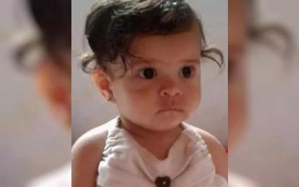Emilly Beatriz, de 1 ano — Foto: Reprodução/TV Anhanguera
