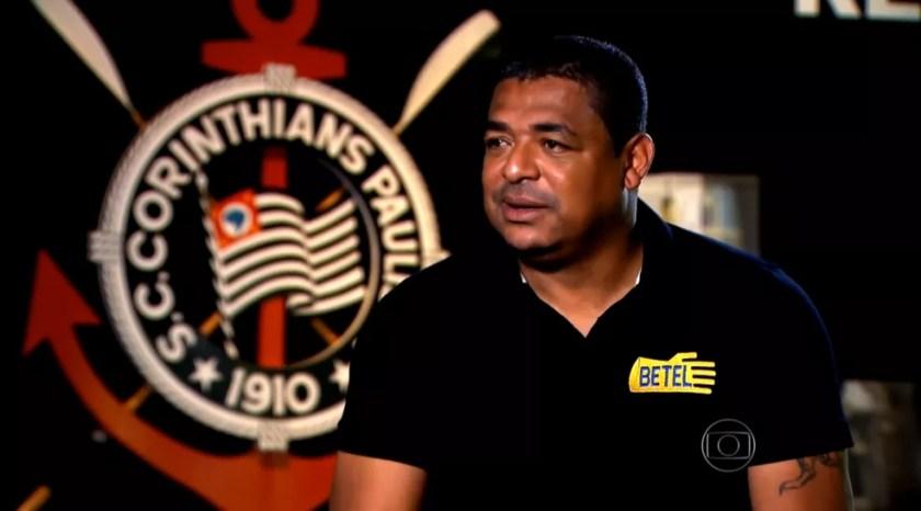 Vampeta também ficou famoso pelas provocações — Foto: Reprodução TV Globo