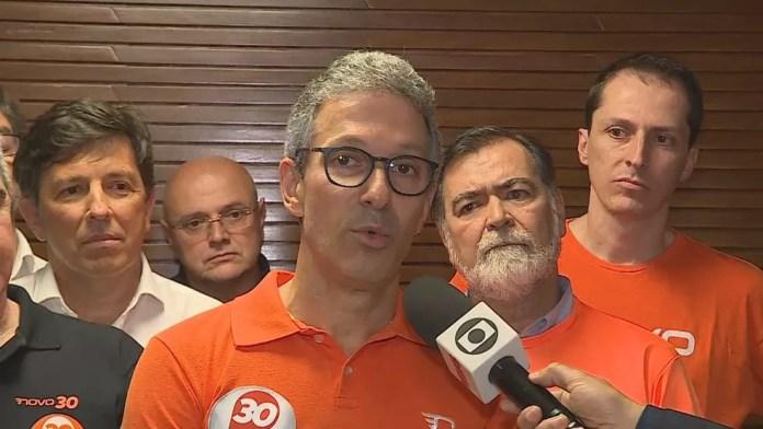 Zema fala sobre a vitória na eleição em Minas Gerais — Foto: Globo