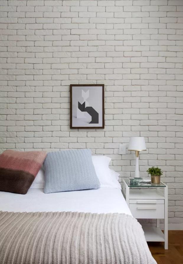 Sem quebraquebra apartamento ganha parede de tijolinhos