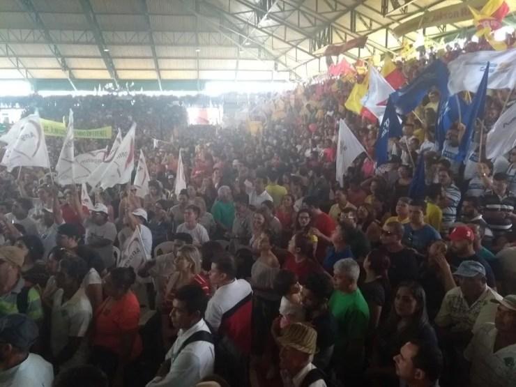 Convenção da Frente Popular do Acre foi realizada no sábado (21), em Rio Branco (Foto: Aline Vieira/Rede Amazônica Acre)