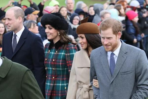 Meghan Markle e Kate Middleton com seus maridos, os príncipes Harry e William (Foto: Getty Images)
