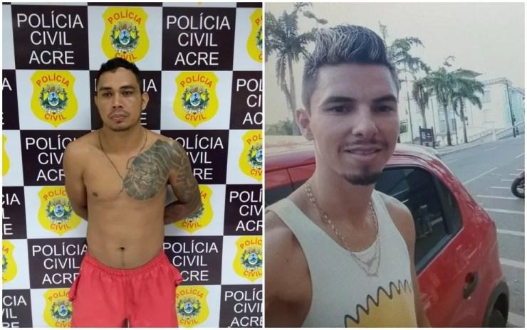 Francimar Conceição da Silva, de 27 anos, Clenilton Araújo de Souza, de 26 foram presos e Luiz Gonzaga está foragido — Foto: Divulgação/Polícia Civil