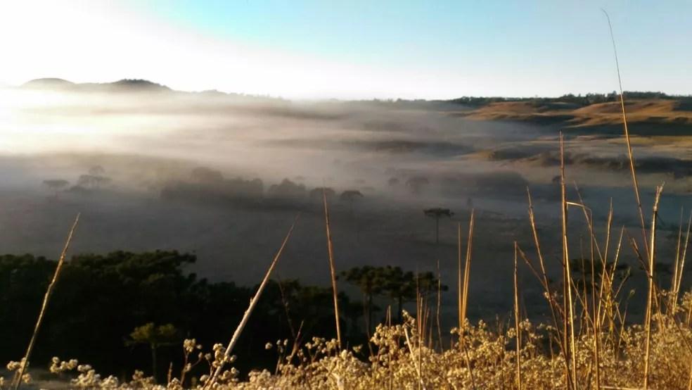 Terça-feira amanheceu com temperaturas entre -3º e 12ºC em SC (Foto: Wagner Urbano/Divulgação)