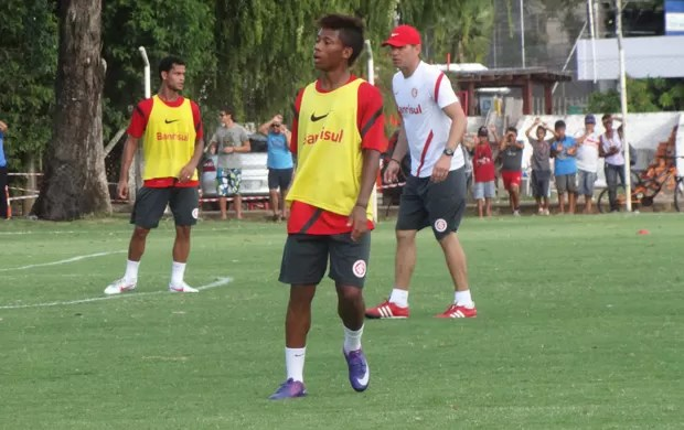 inter fernando baiano neymar treino (Foto: Tomás Hammes/Globoesporte.com)