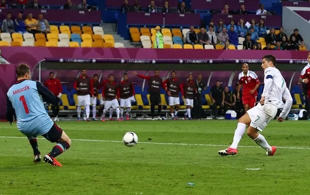 cristiano ronaldo portugal x dinamarca (Foto: Getty Images)