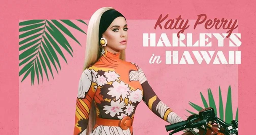 Katy Perry na capa do single 'Harleys In Hawaii' — Foto: Divulgação