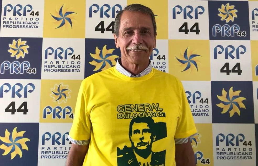 Em convenção, PRP lança general Paulo Chagas ao governo do DF (Foto: Letícia Carvalho/G1)