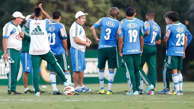 Gilson kleina treino Palmeiras (Foto: Piervi Fonseca / Ag. Estado)