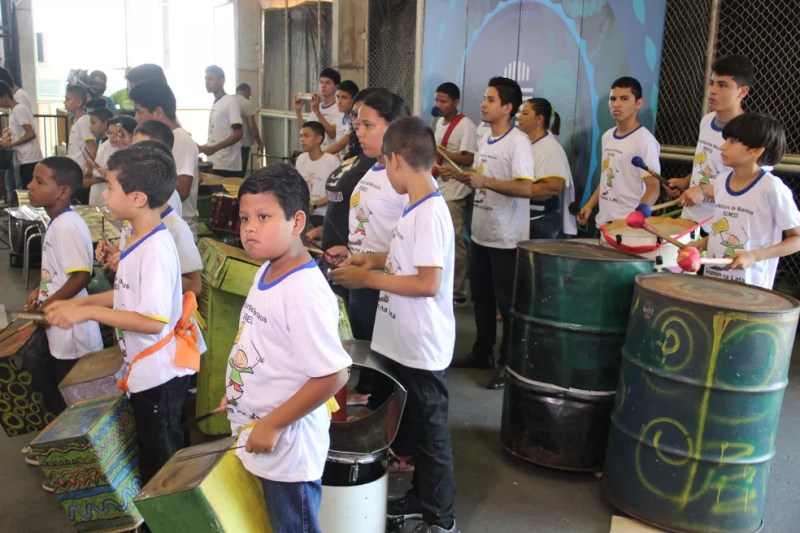 Curumim de Lata foi uma das atrações (Foto: Matheus Castro/Rede Amazônica)