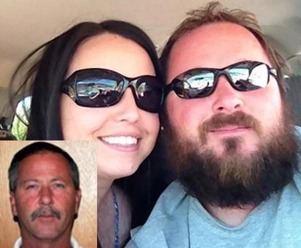 Timothy John Brewer, de 33 anos, foi preso após agredir seu pai ao flagrá-lo com sua mulher, Logan Rae (Foto: Reprodução/Facebook/Logan Rae)