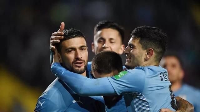Arrascaeta marcou dois gols na vitória do Uruguai sobre a Bolívia