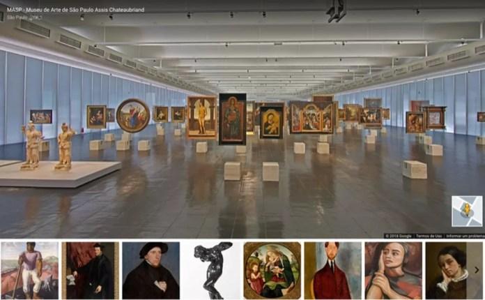 Visita virtual em um museu com o serviço Google Arts and Culture — Foto: Reprodução/Marvin Costa