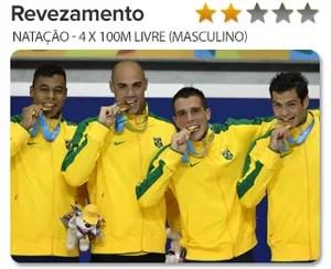 Peso do Ouro Revezamento masculino - natação (Foto: GloboEsporte.com)