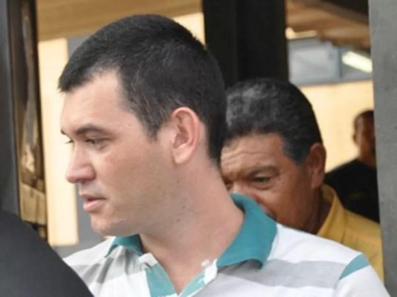 Hugleice da Silva ao ser libertado do Instituto Penal de Campo Grande — Foto: Leandro Abreu/G1 MS