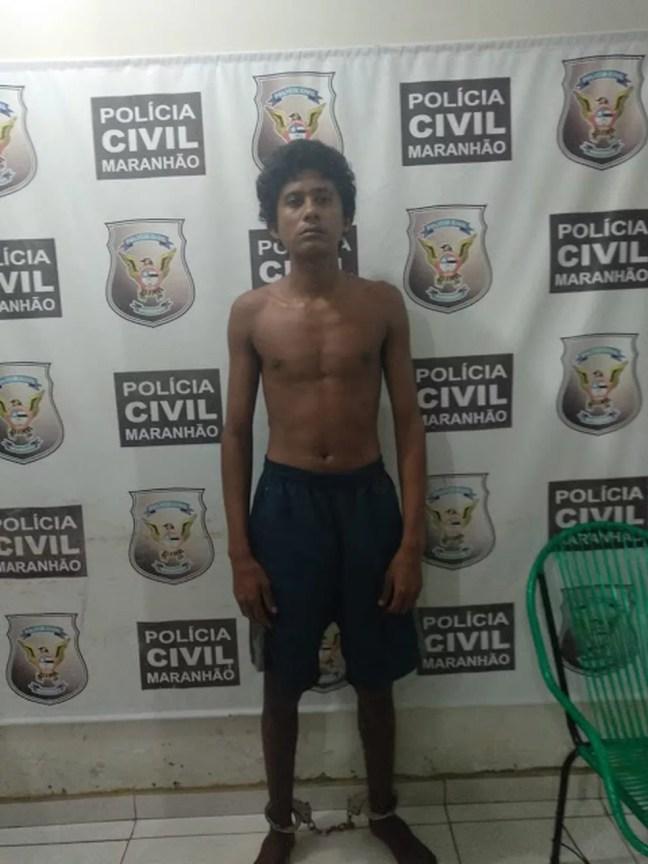 Carlos Júnior Menés de Sousa matou a pedradas a sua irmã de 13 anos em Chapadinha — Foto: Divulgação/Polícia Civil
