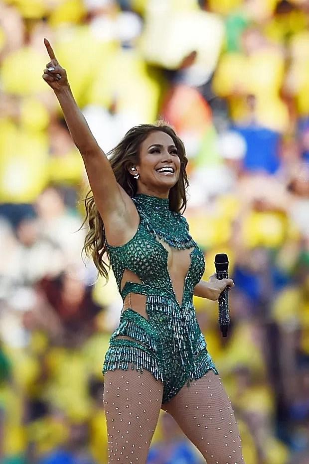 Jennifer Lopez na abertura da Copa do Mundo 2014 (Foto: Getty Images)
