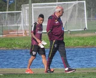 Neilton São Paulo jogo-treino (Foto: Marcelo Prado)