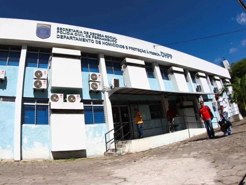 Departamento de Homicídios e Proteção à Pessoa (DHPP), localizado no bairro do Cordeiro, no Recife (Foto: Marlon Costa/Pernambuco Press)