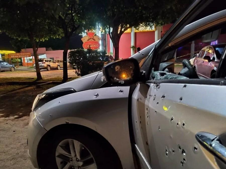 Caso é morto com 100 tiros de fuzil na fronteira do Brasil com o Paraguai,  em Ponta Porã (MS). — Foto: Polícia Civil/Divulgação