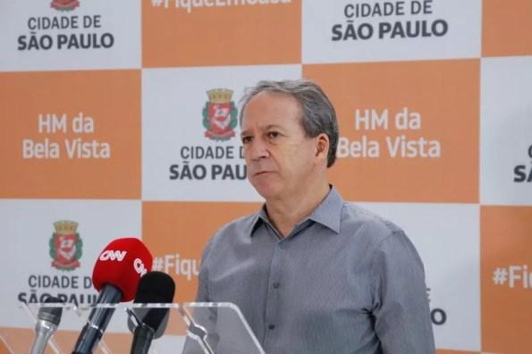 O secretário municipal de Saúde de São Paulo, Edson Aparecido.  — Foto: Divulgação/PMSP