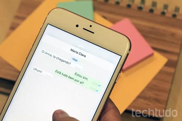 Atualização do WhatsApp permite burlar check azul no iPhone 6S e 6S Plus (Foto: Anna Kellen Bull/TechTudo)