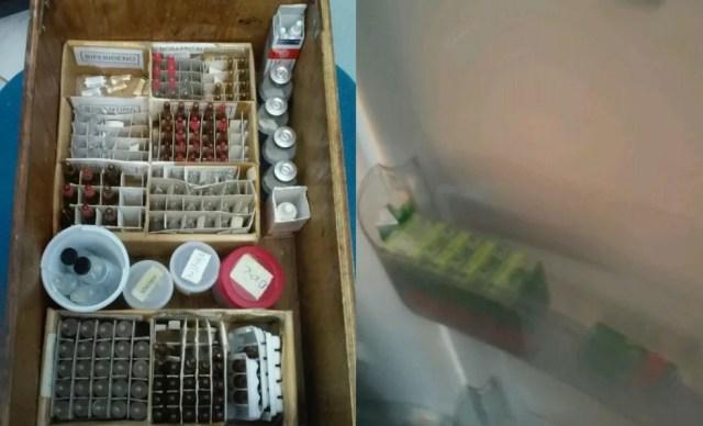 Remédios armazenados de forma irregular foram flagrados em Jundiaí e São Roque (Foto: Tribunal de Contas do Estado de São Paulo/Divulgação)
