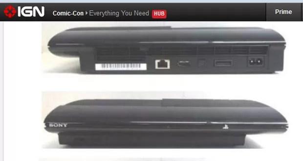 Site 'IGN' mostra supostas imagens do novo modelo do PS3 (Foto: Reprodução)