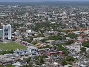Vista aérea de Macapá (Foto: Abinoan Santiago/G1)