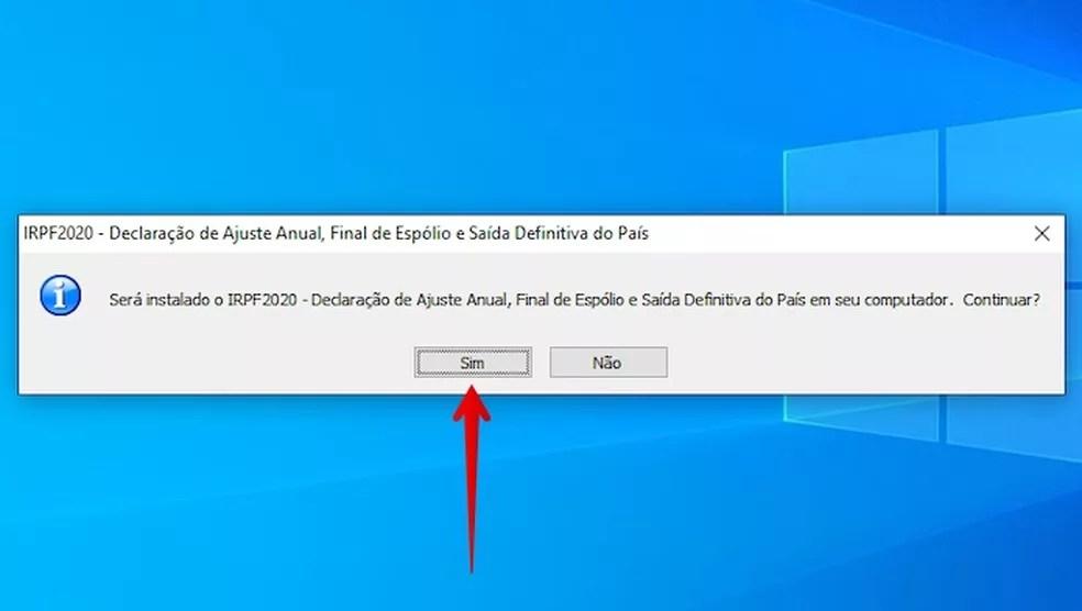 Execute o arquivo de instalação baixado — Foto: Reprodução/Helito Beggiora